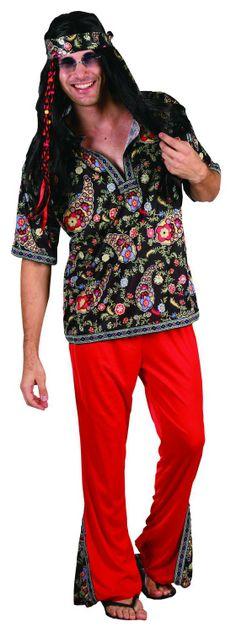 Hippie pak voor heren : Vegaoo Volwassenen Kostuums