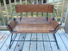 Antique English Horse Drawn Carriage Bench Seat Built By English Carriage Maker: