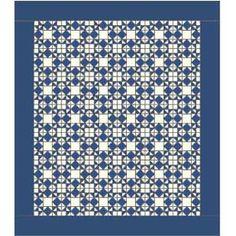 Moonlight Stars: FREE Classic One-Block Bed Quilt Pattern  xxx