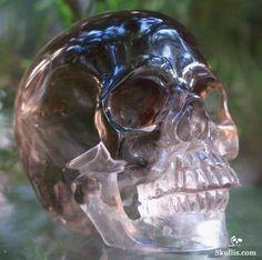 Smokey Quartz Rock Crystal Skull