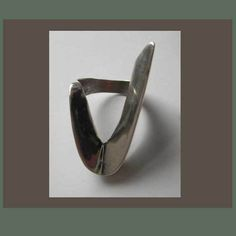 So Sharp and So Chic,Modernist Cast Sterling Ring--$68.00
