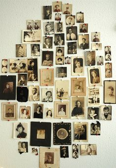 """Guest room wall was completely covered in framed b family photos.  All of those smile-less people looking down on me in bed gave me """"the creeps"""".  Grandma would lie down with me when I was scared.  Trouble was, she would fall asleep first and start to snore...loud.  Love her."""