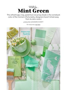 """""""Wild for Mint Green"""" from Country Living, May 2018. Read it on the Texture app-unlimited access to 200+ top magazines."""
