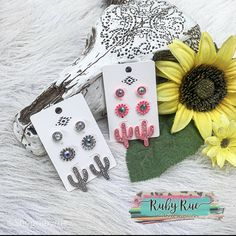 Cactus Earring Set – Ruby Rue Jewelry & Accessories