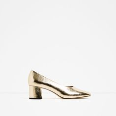 ZARA - WOMAN - MID HEEL LAMINATED SHOES