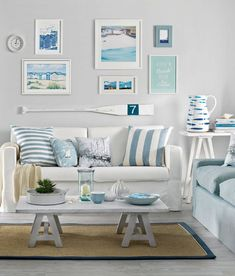 Quiz: How Much Do You Know about White Living Room Furniture? - Quiz: How Much Do You Know about White Living Room Furniture? Cottage Style Living Room, Beach Living Room, Casual Living Rooms, Living Room White, Small Living, Nautical Living Rooms, Coastal Decor Living Room, Modern Living, Coastal Bedrooms