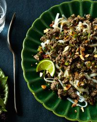 Thai-style Beef Salad over Angel-Hair Pasta Recipe from Food & Wine