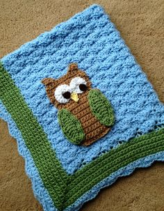 Free Crochet Owl Blanket Patterns | Little Hoot the Owl Crochet Baby Blanket Pattern