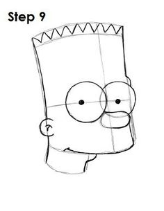 How to Draw Bart Simpson Simpsons Drawings, Simpsons Cartoon, Cartoon Drawings, Naruto Drawings, Art Drawings Sketches, Disney Drawings, Bart Simpson Drawing, Cool Easy Drawings, Tracing Art