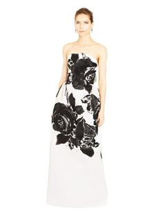 Rose Chantilly Lace Embroidered Silk Faille Gown