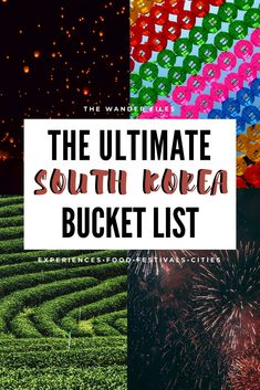 This South Korea bucket list will spark that wanderlust and give you inspiration for a trip to Korea! South Korea has great food, festivals and experiences. With a bucket list like this you'll never run out of things to do in South Korea! South Korea Travel, Asia Travel, Travel Guides, Travel Advice, Jeju Island, Online Travel, Culture Travel, Travel Goals, Cool Places To Visit