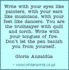 Quotable - Gloria Anzaldúa - Writers Write