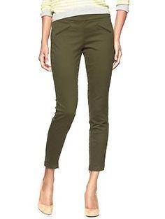 Gap Super skinny twill pants in juniper green