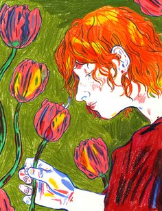 Colored pencil illustration by Hannah Lock Pretty Art, Cute Art, Art Inspo, Arte Peculiar, Funky Art, Wow Art, Pencil Illustration, Art Sketchbook, Aesthetic Art
