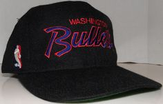 Washington Bullets NBA Vintage 90's Sport Specialties Script Snapback Hat RARE #SportSpecialties #WashingtonBullets