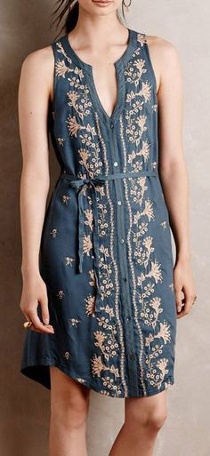 Embroidered Syden Shirtdress