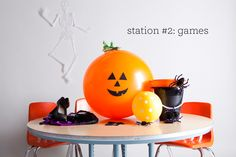 One Charming Party   Birthday Party Ideas › halloween school party: games station