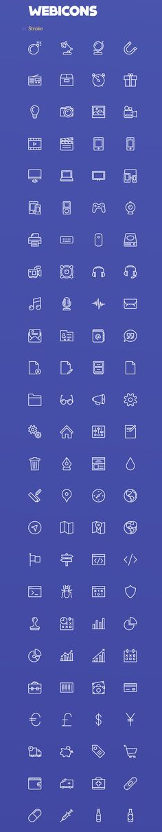 A simple stroke and fill icon set that will match perfectly into your web or mobile project. This set offers 100 stroke and fill icons and it comes in Al and EPS format. Graphic Design Tools, Web Design, Icon Design, Application Icon, Best Icons, App Icon, Line Icon, Interface Design, Tutorials