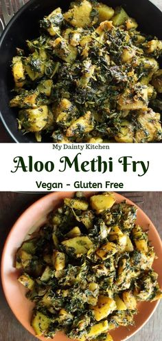 Methi aloo or aloo methi is a healthy Indian main course item. Potatoes and fenugreek leaves are sauteed together. This is a quick and easy recipe. #aloomethi, #Indianfood, #authenticindian, #NorthIndian, #sauteedvegetables, #leafyvegetables, #fenugreekleaves, #methileaves, #diabeticspecialfood