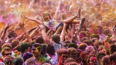 #Holi One #Festival #Colors #Paris