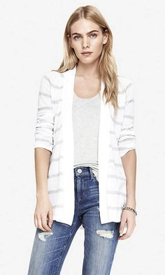 STRIPED CONVERTIBLE SLEEVE COVER-UP | Express