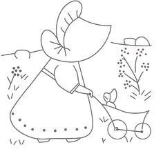 Sunbonnet embroidery