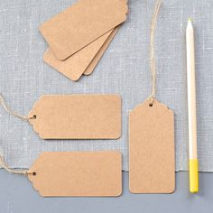 Pack Of 10 Brown Card Luggage Labels