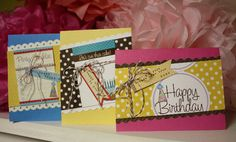 Cute bday card ideas from Elle's Studio (Mindy Miller)
