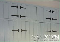 (built in wardrobes) - like the rustic look of these