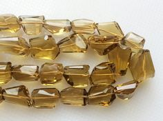 Beer Quartz Beads AAA Gems Faceted Tumble Beads by gemsforjewels