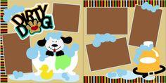 Dirty Dog scrapbook Pagekit $8.00