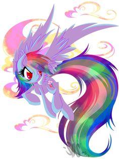 Rainbow Dash looks kinda like a Devil... DEVIL DASH :O