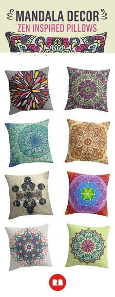 Trending on Redbubble and trending in the artistic world for centuries, these ancient designs lend themselves well to home decor of all kinds, especially pillows. Find hundreds of beautiful, calming mandala designs, created by independent artists, on Redb