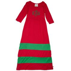 Girls Red Green Stripe Maxi Dress – Lolly Wolly Doodle