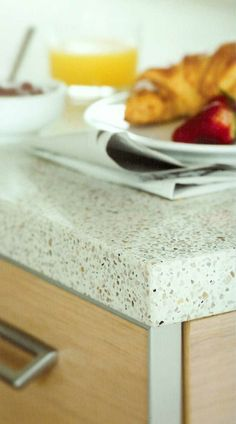 We are proud to carry Caesarstone Quartz Surface countertops. Caesarstone products are composed of natural quartz, one of nature's strongest minerals. Cleaning Granite Counters, Bathroom Countertops, Laminate Countertops, Concrete Countertops, Condo Kitchen, New Kitchen, Kitchen Dining, Updated Kitchen, Kitchen Updates