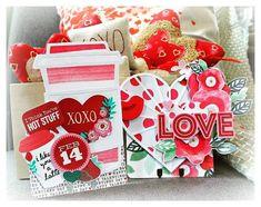 Mini Scrapbook Albums, Scrapbook Cards, Latte, Crate Crafts, Valentine Crafts, Valentine Ideas, Crate Paper, Christmas Tag, Journal Cards