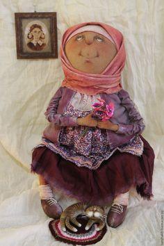 Купить Баба Аня...Аннушка...Анютка... - комбинированный, текстильная кукла, ароматизированная кукла, интерьерная кукла