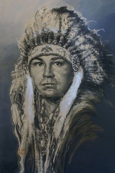 BUY IT NOW!  Native American Indian Chief Western Art Acrylic Painting Signed Kent Butler #NativeAmerican #FirstNations #AmericanIndian #painting $4000.00