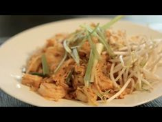 Pad Thai - YouTube - Jet Tila.  This one includes shrimp but you can make it vegetarian.