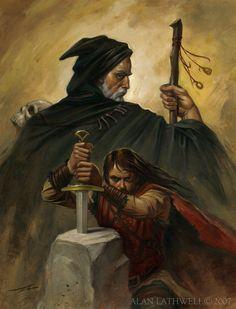 Merlin and Arthur by ~alanlathwell on deviantART