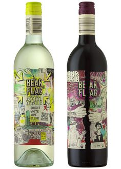 With an overloaded composition of whimsical illustrations depicting contemporary phenomena from 'selfies' to QR codes, this label distances itself from the usual elitism that wine branding holds, instead appealing to the casual, youthful wine drinker. The comic aesthetic, bright colours and novelty type bring a sense of play and thus an integral sense of youth.