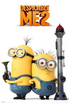 Posters: Despicable Me Poster – 2, Armed Minions (36 x 24 inches)