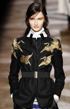 "deitycouture: "" Dries van Noten jacket for Laverna – Roman goddess of thieves, cheats and the underworld "" Fashion Details, Fashion Photo, Fashion Art, High Fashion, Fashion Outfits, Womens Fashion, Fashion Design, Fall Fashion, Couture Fashion"