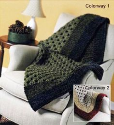 Simple Crocheted Afghan--uses Lion brand chenille Quick n Thick yarn, which is discontinued, but other chenilles are still available. Thinking about this for a gift--it looks quick to make!