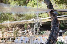 Outdoor chandaliers ... we love you .. wedding decor