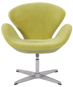 Chintaly Imports Green Swivel Arm Fun Chair