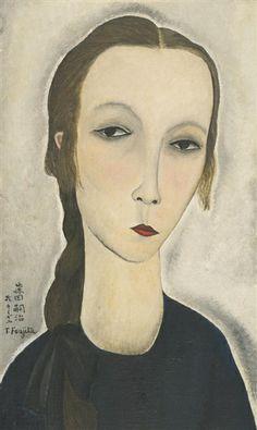 Tsuguharu Foujita, PORTRAIT DE JEUNE FEMME (HANKA ZBOROWSKA)