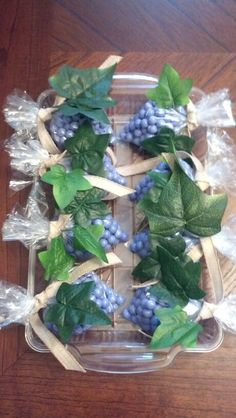 Chocolate candy - grapes for wine party favors