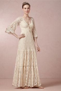 Kite and Butterfly, $550 at BHLDN | 52 Wedding Dresses That Aren't Strapless