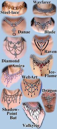 Strangeblades- Various #Chainmail Chokers and Necklaces - some locking